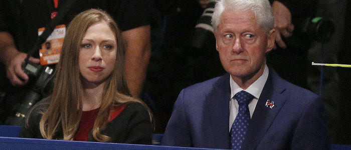 Bill Clinton, right, with Webster Hubbel's daughter